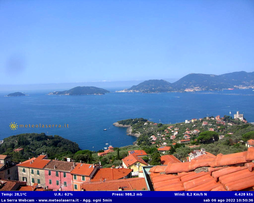 Webcam Serra fraz. Lerici SP
